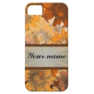 Otoño floral funda para iPhone 5 barely there
