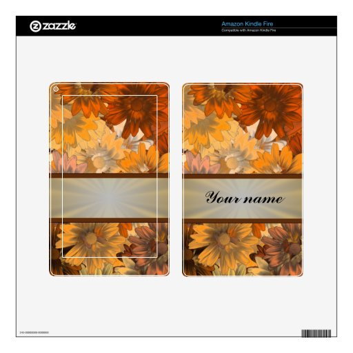 Otoño floral kindle fire skins