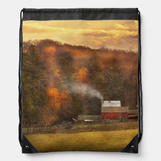 Otoño - granja - Morristown, NJ - cultivo Mochilas