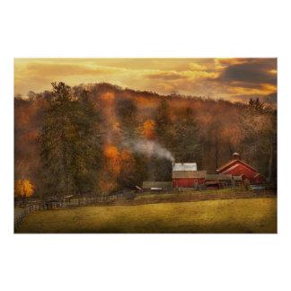 Otoño - granja - Morristown, NJ - cultivo Perfect Poster