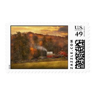 Otoño - granja - Morristown, NJ - cultivo Sellos