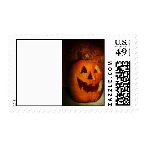 Otoño - Halloween - Jack-o-Linterna Franqueo