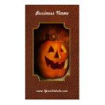 Otoño - Halloween - Jack-o-Linterna Tarjetas De Visita