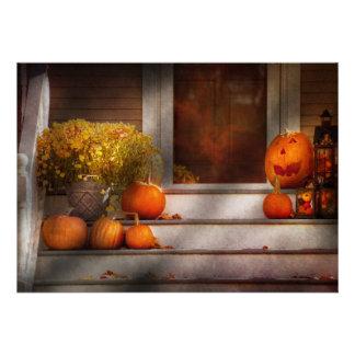 Otoño - Halloween - somos todos felices de verle Invitaciones Personales