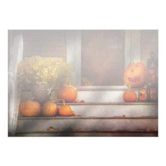 Otoño - Halloween - somos todos felices de verle Comunicados Personalizados