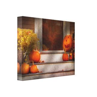 Otoño - Halloween - somos todos felices de verle Lona Estirada Galerias