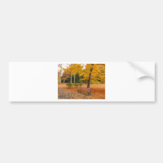 Otoño pacífico y reservado en el parque etiqueta de parachoque