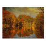 Otoño - paisaje - otoño en Westfield - NJ Tarjeta Postal