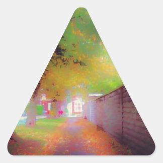 Otoño Pegatina Triangular