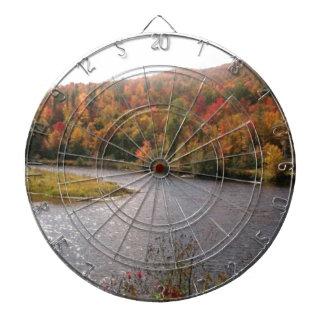 otoño por el lago tablero dardos