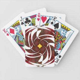 Otoño que gira noviembre de 2012 cruzado baraja cartas de poker