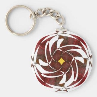 Otoño que gira noviembre de 2012 cruzado llaveros personalizados