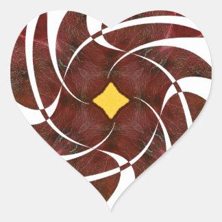 Otoño que gira noviembre de 2012 cruzado pegatinas de corazon personalizadas