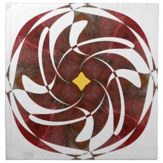 Otoño que gira noviembre de 2012 cruzado servilletas de papel