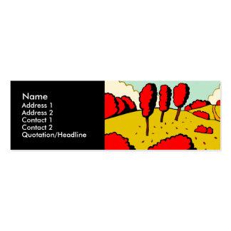 Otoño rojo plantillas de tarjeta de negocio