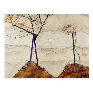 Otoño Sun de Egon Schiele- Tarjeta Postal
