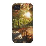 Otoño Sun de New York City Case-Mate iPhone 4 Carcasas