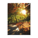 Otoño Sun de New York City Impresiones En Lona Estiradas