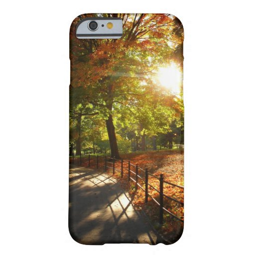 Otoño Sun en Central Park - New York City Funda De iPhone 6 Barely There