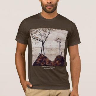 Otoño Sun y árboles de Schiele Egon Playera