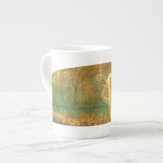Otoño - taza de la porcelana de hueso taza de porcelana