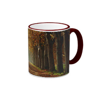 otoño tazas de café