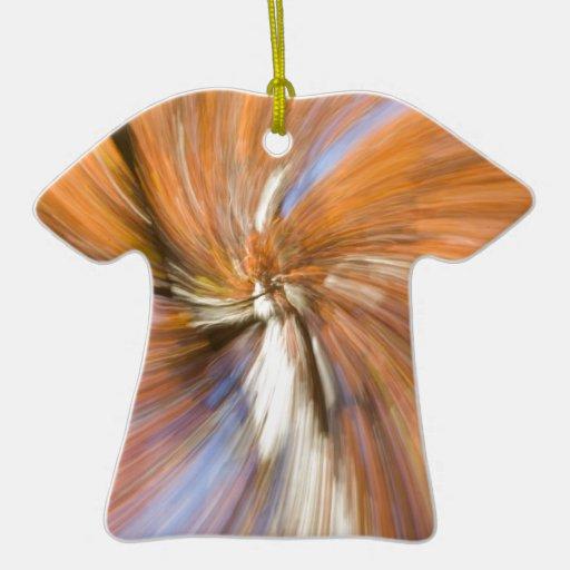 Otoño Tree_Swirly Adorno De Cerámica En Forma De Camiseta