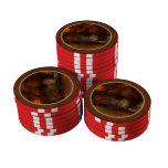 Otoño - un banco de parque fichas de póquer