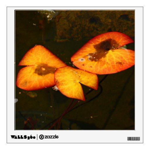 otoño waterlily vinilo adhesivo