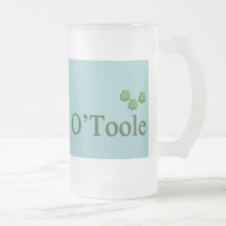O'Toole Family 16 Oz Frosted Glass Beer Mug
