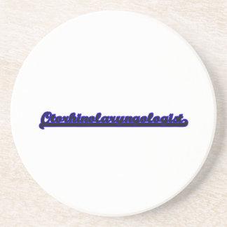 Otorhinolaryngologist Classic Job Design Coaster