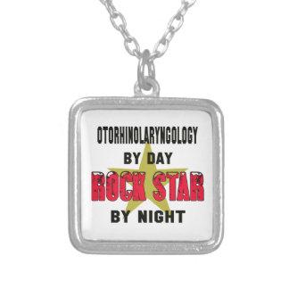 Otorhinolaryngology by Day rockstar by night Square Pendant Necklace