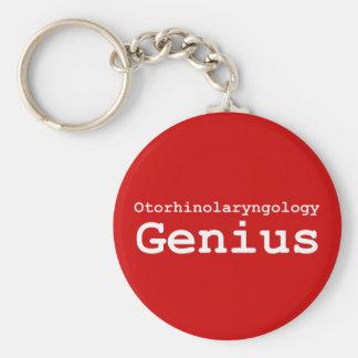 Otorhinolaryngology Genius Gifts Basic Round Button Keychain