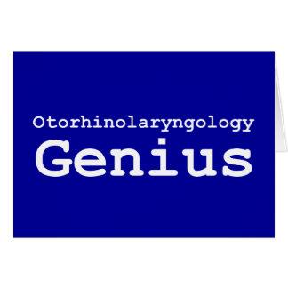 Otorhinolaryngology Genius Gifts Card