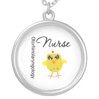 Otorhinolaryngology Nurse Chick v1 Round Pendant Necklace