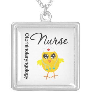 Otorhinolaryngology Nurse Chick v1 Square Pendant Necklace