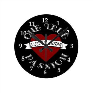 OTP: Electric Guitar Round Clock