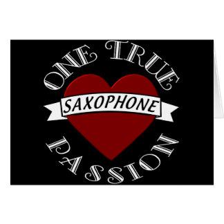 OTP: Saxofón Tarjeta