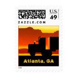 OTR Truck Semi Travel Stamp Atlanta Georgia GA