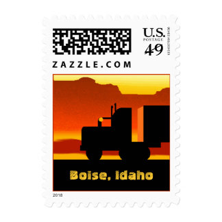 OTR Truck Semi Travel Stamp Idaho Boise ID Sunset