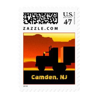 OTR Truck Semi Travel Stamp New Jersey Camden NJ