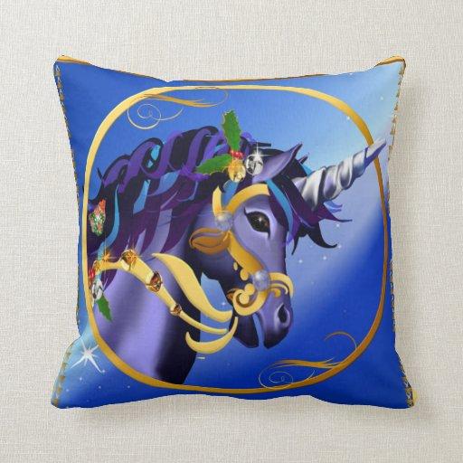 Otra almohada mágica de la cara del unicornio del