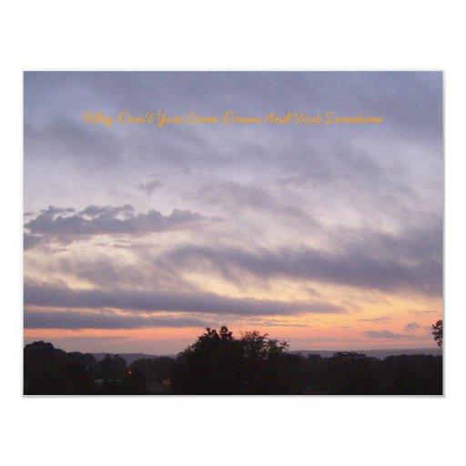 Otra invitación de la puesta del sol de Kentucky