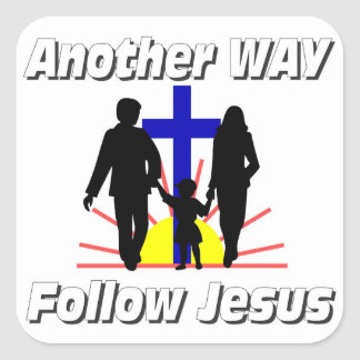 Otra manera, sigue a Jesús Pegatina Cuadrada
