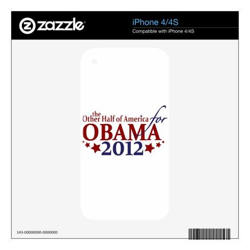 Otra mitad de América para Obama 2012 iPhone 4S Skins