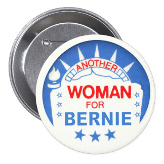 Otra mujer para Bernie Pin Redondo De 3 Pulgadas