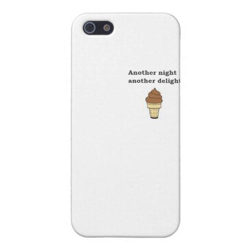 Otra noche otro helado de chocolate del placer iPhone 5 coberturas