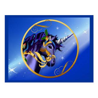 Otra postal mágica de la cara del unicornio del na