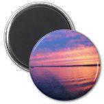 Otra puesta del sol en los Great Lakes Imán De Nevera