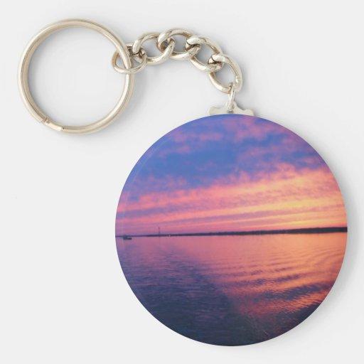 Otra puesta del sol en los Great Lakes Llavero